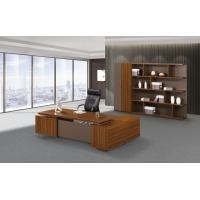 Wholesale 200cm Brown Office Desk With Storage , Modern Office Desk Return Extension Type from china suppliers