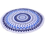 Buy cheap Summer 150cm diameter Large Custom Printed Round Beach Towels With Tassel Microfiber beach towel round from Wholesalers