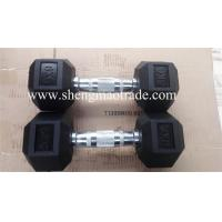 black/colourful olympic hex rubber dumbbell