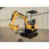 Buy cheap 1.0t mini crawler digger garden machine multi-functional caterpillar excavator from wholesalers