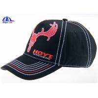 Buy cheap 6 Panel Embroidered Custom Baseball Caps Washed and Breathable for Advertising from Wholesalers