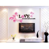 Wholesale high quality factory cost Wall decorations love stickers 3d acrylic wall decal from china suppliers