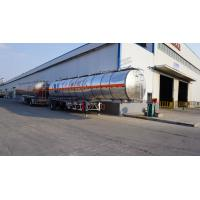 China oil tanker truck aluminum trailers with big capacity from CIMC for sale on sale
