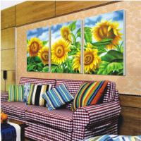 China Wrapped printed canvas printing service flower landscape scenery design / photo on sale