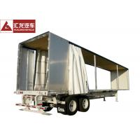 Wholesale PVC Tarpaulin Curtain Side Trailer , Curtain Side Semi Trailer With Sloping Floor from china suppliers