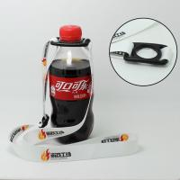China Beverage & Water Bottle Holder Lanyards handy adjustable strap with a small carabiner clip  Bottle Holder Rubber Pull on sale
