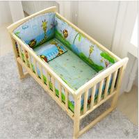 Wholesale Hot selling customized mobile children's swing bed wooden baby crib from china suppliers