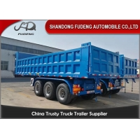 Buy cheap China manufacture 3 axles 25 cubic meters dump trailer for Africa from wholesalers