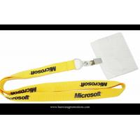 Wholesale heat transfer printing logo custom yellow lanyard with ID badge holder from china suppliers