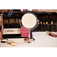 China LED makeup mirror light double sided battery charge 1X/5X magnifying desktop mirror on sale