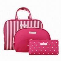 Quality Cosmetic Bag Set with 190T Poly Lining for sale