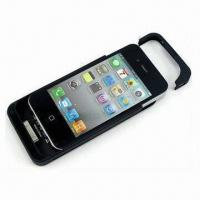 Wholesale Slim Battery Case for iPhone, with 1,500mAh Li-ion and Built-in Folding Bracket from china suppliers