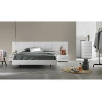Wholesale White Gloss Bedroom Furniture Sets With Big Headboard King Size Bed For Hotel Or Villa from china suppliers