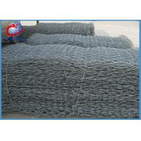 Buy cheap Double Twist Gabion Wire Mesh Panels , Gabion Fence Panels Water Flood Barriers from wholesalers