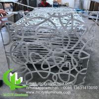 China Powder Coated  3mm Laser Cut Aluminum Panels Wood Color 1200x2400mm Recommand Size on sale