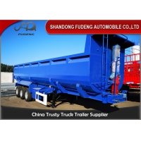 Wholesale Stone Transport 6mm Side Wall 3 Axle Q345B Tipping Trailer from china suppliers