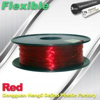 Wholesale TPU Flexible 3d Printing Filament 1.75 / 3.0 mm  Red and Transparent from china suppliers