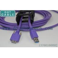 China Screw Lock Camera USB Cable , Micro USB 3.0 Shield Good Signal High Flex Cable on sale