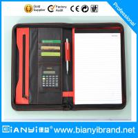 Wholesale A4 zipper PU leather portfolio with mutiple functions from china suppliers