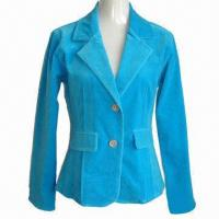 Wholesale Women's Fashionable Short Jacket, Made of Stretched Cotton Velveteen, Garment Wash from china suppliers