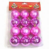 Wholesale Plastic Christmas Balls with Shiny Effect, Suitable for Promotional and Decoration Purposes from china suppliers