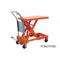Wholesale Heavy Duty Hand Lift Table With Safety Wedge Block , Convenient Maintenance from china suppliers