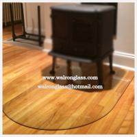 Wholesale Smoke Grey Glass Floor Plate with D shape from china suppliers