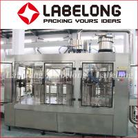 Wholesale 3.29Kw Juice Bottling Machine 3 In 1 Centre Filling Valves PLC Control from china suppliers