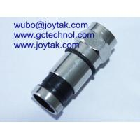 China F male compression connector coaxial connector waterproof for CATV RG6 coaxial cable on sale