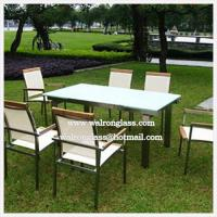 China Outdoor Furniture Outdoor Table Top with High Quality Tempered Glass on sale