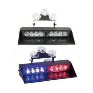 Buy cheap window shield red blue police emergency blinker LED strobe dash lights from wholesalers