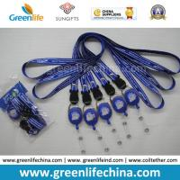 Wholesale Breakaway neckwear smooth polyester custom printed satin lanyard and round badge reel holder combo from china suppliers