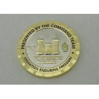 China 3D Personalized Coins For Operation Enduring Freedom With Nickel And Gold Plating on sale