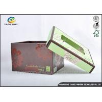 Brown Foldable Cardboard Gift Boxes With Lids Matt Varnish Surface Finishing