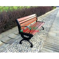 Brown  High Density Wood Plastic Composite Bench 150 * 54 * 73cm Weather Resistant