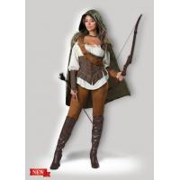 Wholesale Female Halloween Costumes / Halloween Adult Costumes Enchanted Forest Huntress 1139 from china suppliers