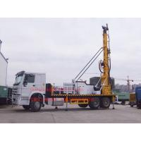 Sinotruk Truck Mounted Water Well Drilling Rig , Cummins Engine Hydraulic Water Drilling Equipment