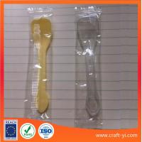 Wholesale individual package small plastic spoon for ice cream or jelly in transparent or yellow color from china suppliers