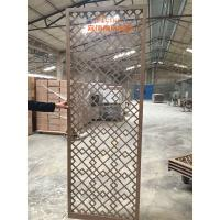 China High End Customized Hotel Room Divider , Wooden Room Screen Asia Style on sale