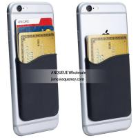 China Low price buy $0.3 silicone adhesive 3M sticky wallet card holder for any smart phone on sale