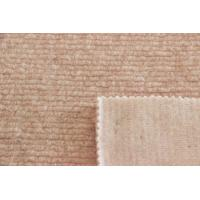 Soft Stripe Style Pink Wool Material Solid Color Fabric For Scarf