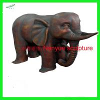 Wholesale customize size animal fiberglass statue large bronze elephant model as decoration statue in garden /square / shop/ mall from china suppliers