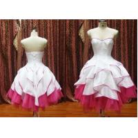 China OEM Fashion Sweetheart Neckline Ruffles Mini Masquerade Prom Dresses / Knee Length on sale