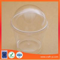 Wholesale Ice cream plastic cup 200 ml hard PS in transparent colour 100 piece per carton from china suppliers