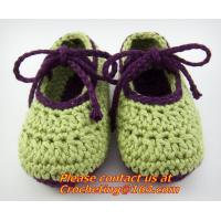 Wholesale Crochet Baby Boy Booties Socks Knitted Newborn Loafers Shoes Plain Infant Slippers Footwea from china suppliers