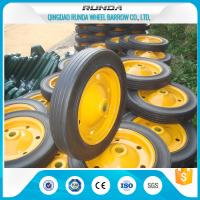 Lightweight Solid Rubber Wheels Steel Rim 150kg Loading Fits Wheelbarrow Wb3800