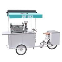 China Commercial Tricycle Coffee Cart Pure Steel Body With Long Service Life on sale