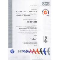 CYU INT'L CO.,LIMITED Certifications