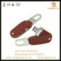 Wholesale swivel leather USB Flash Drive / USB metal leather usb pendrives from china suppliers
