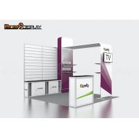 Wholesale Easy Exhibit Slatwall Trade Show Booths With CMYK Heat Transfer Printing from china suppliers